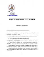 Règlement du port