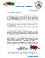 TRAIT D'UNION DECEMBRE 2018